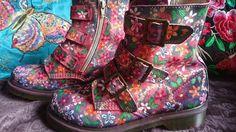 Dr martens 6 customised. flowers. OOAK | Kleding en accessoires, Dames: schoenen, Laarzen, laarsjes | eBay!