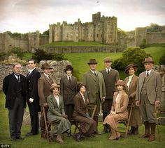 Time for a trip!Downton Abbey fans have been given their first glimpse of what is to come in the drama's much anticipated Christmas special