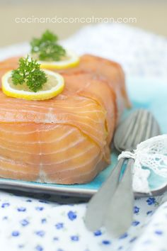pastel fácil de salmón