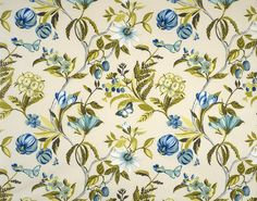 Fine fabric and an enduring statement for your drapery from the 'Sweet Scent' design style range by Pegasus Floral Curtains, Drip Dry, Curtain Fabric, Tropical Flowers, Outdoor Fabric, Pegasus, Fun Drinks, Fabric Design, Blueberry