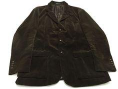 Polo Ralph Lauren XXL Brown Corduroy Blazer Sport Coat Mens 2XL 100% Cotton #PoloRalphLauren #ThreeButton