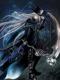 Undertaker... He is my favorite character from Black Butler... Grell second, Ciel third.... Yeah I love weird characters in animes..