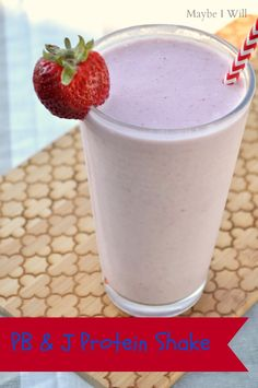 Peanut Butter and Jelly Protein Shake #recipe #drink #health
