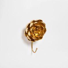 GOLDEN FLOWER HOOK - Hooks - Decoration | Zara Home Finland
