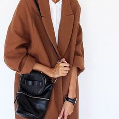 oversized caramel coat