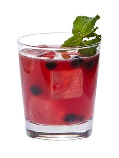 1½ oz. Hennessy V.S½ oz. lemon juice½ oz. lime juice½ oz. St-GermaineHandful of blueberries1 mint sprigGarnish: blueberries and mint sprigMuddle handful of blueberries and mint sprig in a cocktail shaker. Add ice and remaining ingredients. Shake vigorously and strain into a rocks glass. Garnish with a few blueberries and a mint sprig. Courtesy Image -Cosmopolitan.com