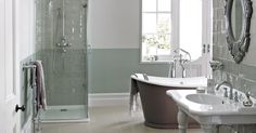 Choice of bath or shower; shower could be better designed.