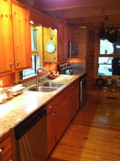 Rustic Cabin  Galley Kitchen Cultivatecom  log home