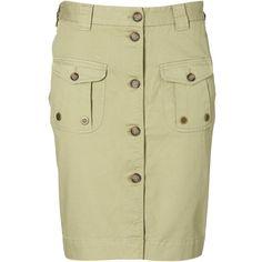 GANT By Michael Bastian The Explorer Skirt ($250) ❤ liked on Polyvore