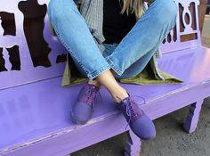 Полуботинки Maians AURELIA BASICO purple