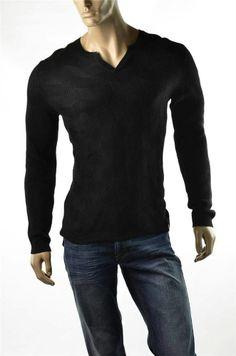 #Calvin Klein #Sweater Mens Sweaters Black Split Neck NWT Pullover  XL T-shirt New