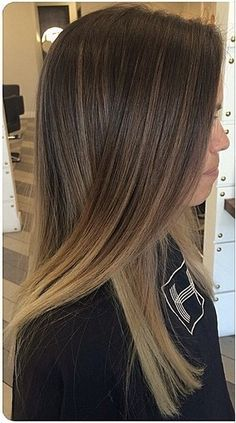 Ashy brown ombre