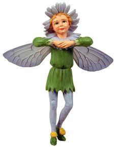 Michaelmas Daisy Flower Fairy Figurine