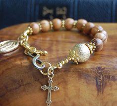 Gift For Godmother. Baptism Gift.Catholic Chaplet. Infinity Bracelet. Rosary Bracelet.Christening Gifts.Confirmation Gift.Christmas Gift. by EkoLine on Etsy