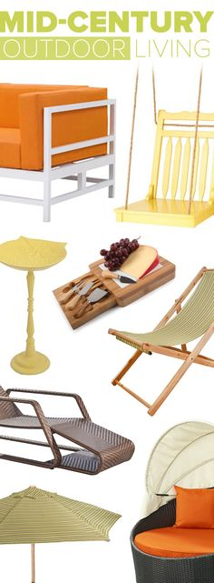 Make Your Backyard The Season's Hottest Destination With Our Retro Furniture & Décor | Shop Now at dotandbo.com