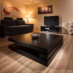 Extra Large Modern Square Black Oak 1.2mt Coffee Table AG Studios 397E