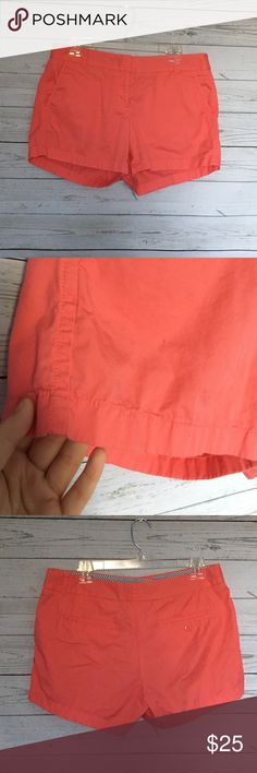 J. Crew Factory Chino Shorts | Good Condition | color is coral | size 10 | J.Crew Factory Shorts