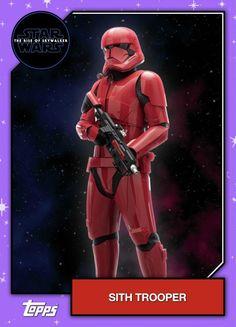 Star Wars – The Rise of Skywalker – Official Topps Trading Cards – Sith Trooper Star Wars Helmet, Star Wars Sith, Star Wars Droids, Star Wars Kylo Ren, Clone Wars, Star Trek, Star War Episode 3, Episode Vii, Finn Star Wars