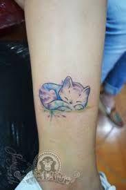 watercolor cat tattoo - Google Search