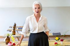 Former fashion editor and style doyenne Jackie Burger's new venture, Salon is a place where women come to hone their sense of self. Love Your Home, Love Her Style, Fashion Editor, Lace Skirt, Salons, Ruffle Blouse, Lifestyle, Stylish, Lady