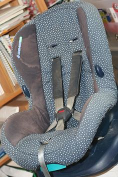 recover an old carseat. perfect if the second baby isn't a boy lol