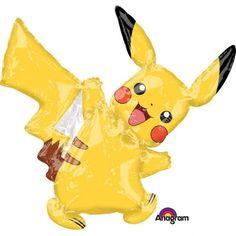 Pikachu Mini Folieballong med holder. Blåses enkelt opp med munnen. Ballongen er ca 30 cm. Gjør det ekstra festlig med disse søte Pikachu ballongene!