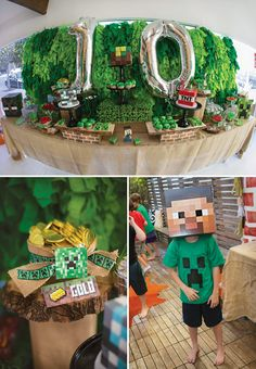 Block Party Minecraft Birthday Madness: Upscale looking party great for decoration ideas.  But still looks like a party for a 10 year old and not too pretty.