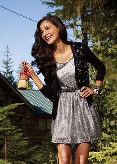 Glitzy party dress & a cardigans that shines. #glitz #Marshalls