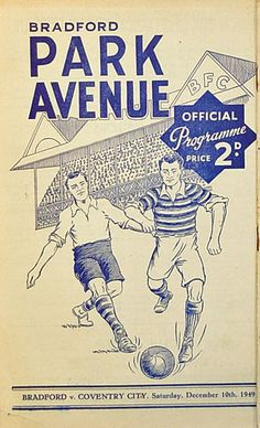 10 December 1949 v Bradford Park Avenue Drew 2-2