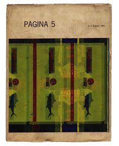 Alfieri , Bruno (founder and editor): PAGINA 5 [INTERNATIONAL REVIEW OF GRAPHIC DESIGN]. Milan: Societa Italiana di Grafica, No. 5. August 1964.