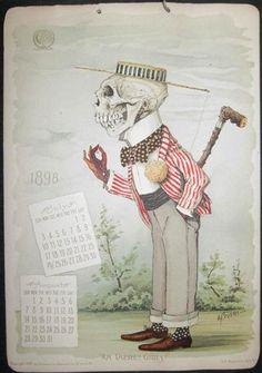 Calendar published by chemical company in late 19th c. and early 20th c., odd. ;)  Un calendario publicado por empresa química a fines de XIX s. hasta los primeros años de XX s., raro. ;)