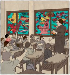 designwise:  By illustrator Rutu Modan, for The NY Times article The Art of Distraction.