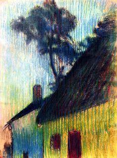 Village Corner Edgar Degas - circa 1895-1898