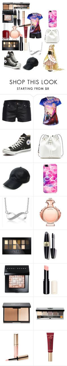 """""""have repunzel day"""" by happy-250 ❤ liked on Polyvore featuring True Religion, Disney, Converse, Sole Society, Vianel, Casetify, Paco Rabanne, Maybelline, Max Factor and Bobbi Brown Cosmetics"""