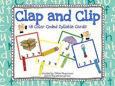 This is a great addition to literacy centers and early finisher tubs. The pack contains 48 syllable cards with color coded borders for easy teacher checking. red 1 syllable, yellow 2 syllables, green 3 syllables blue 4 syllables. Students clap the syllables and use a clothespin to mark their choice. Another option would be to laminate and use dry erase markers to circle the answer. Copyright © Tiffani Mugurussa