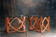 Bespoke Wooden Low Table for Home Interior Furniture Design Ideas by Sean Feeney - Glass Topped Cherrywood