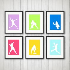 Softball Decor  Sports Decor Softball Print by SimplyLoveCreations