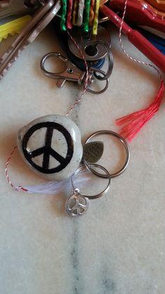 Peace Rock Badge Pebble, Unique Original Surprise, Pin Badge, River Pebble Badge, Stone Badge, Personalized Badge, Handmade with Love Gift