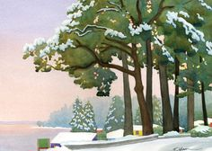 watercolor of a rare snowy day in the Fauntleroy neighborhood of Seattle Christmas Open House, Merry Christmas Santa, Red Christmas, Holiday List, Holiday Cards, Christmas Berries, Painted Barn Quilts, West Seattle, 10 Envelope