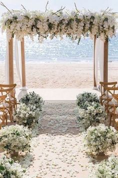 wedding ceremony decorations with white orchids and cloth on the beach iamflower. wedding ceremony decorations with white orchids and cloth on the b. Perfect Wedding, Dream Wedding, Elegant Wedding, Wedding Beach, Trendy Wedding, Small Beach Weddings, Spring Wedding, Romantic Weddings, Rustic Wedding