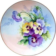 China Painting, Ceramic Painting, Painting On Wood, Illustration Blume, Watercolor Illustration, Hand Painted Plates, Plates On Wall, Watercolor Flowers, Watercolor Paintings