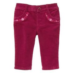 Baby Mulberry Floral Corduroy Pants by Gymboree