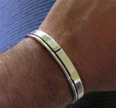 Men's Sterling Silver Cuff Bracelets Find out you can stop wasting money with Cubic Zirconia Jewelry Bracelets For Men, Silver Bracelets, Bangles, Silver Cuff, Cuff Bracelets, Sterling Silver, Mens Ring Designs, Girls Jewelry, Men's Jewelry
