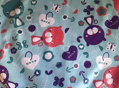 Cat Fabric - Kitten Fabric - Fishbone Fabric- Meow Fabric - Cat Quilting Fabric - Cat Wash and Wear Fabric Cat Wash, Cat Fabric, Cat Quilt, Bag Patterns, Quilting Fabric, Cotton Fabric, Kitten, Lunch, Quilts