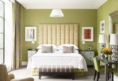 Green Bedroom - would be hard to match this shade, ie not going to much more olive, or too much more saturated...