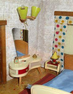 Rockabilly Schlafzimmer   Alte 50er Jahre Mobel Couch Puppenstube Rockabilly Raritat Eckcouch