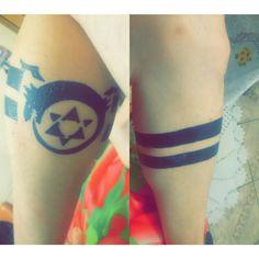 Tattoo da canela #omunculos #ouroborus #faixas #tattoo #canela #panturrilha #fma #fullmetalalchemist #renascimento #continuidade #status