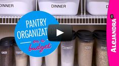 [VIDEO]: Pantry Organization on a Budget (Part 1 of 4 Dollar Store Organizing) from #AlejandraTV
