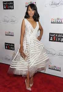 5e8511cb81 Kerry Washington wearing this crisp white