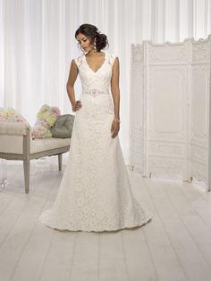 Cap Sleeve Wedding Dress by   Elegant wedding dress, Vintage romance ...